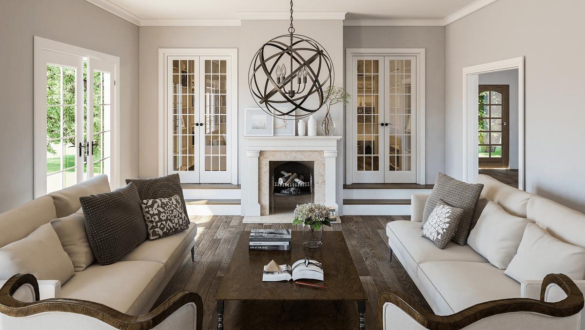 traditional interior design symitry
