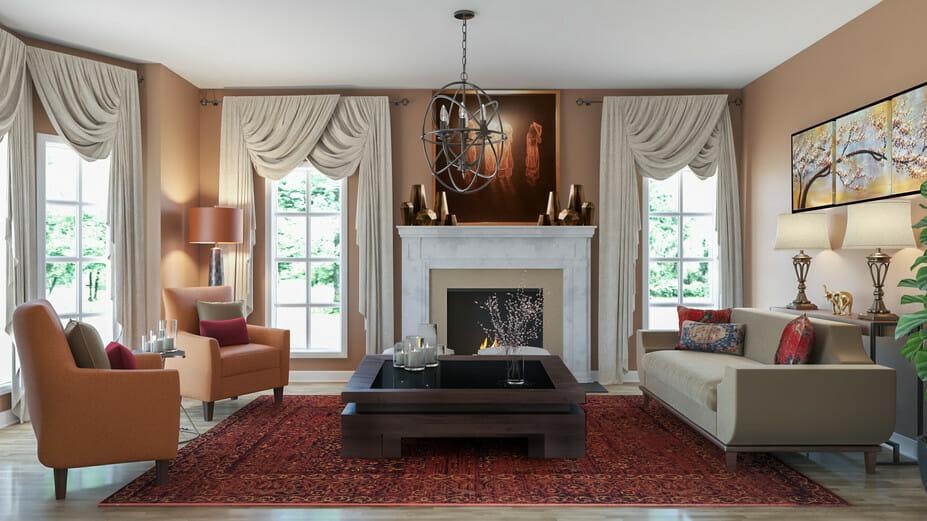 traditional interior design window treatments