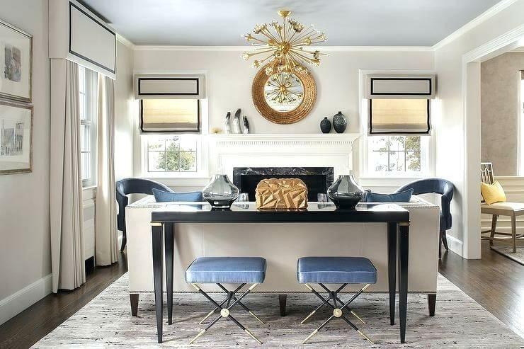 Transitional online living room design