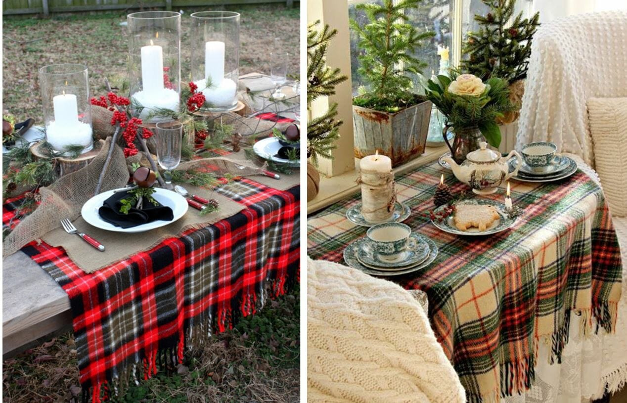 holiday decor trends blanket tablecloth