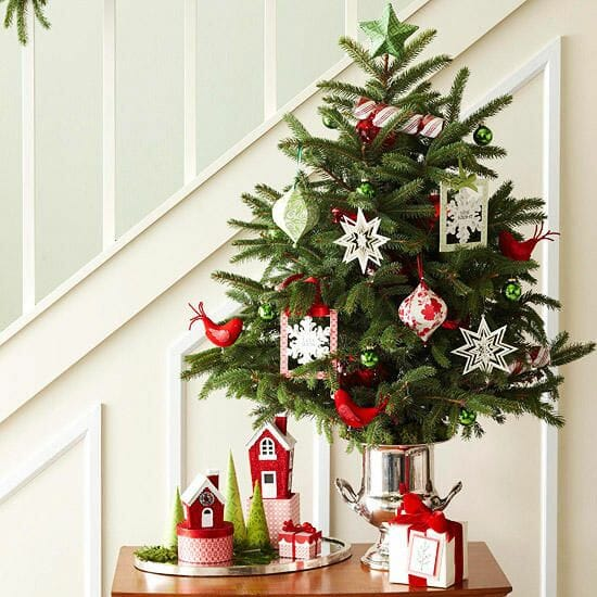 holiday decor trends tree in vase 1