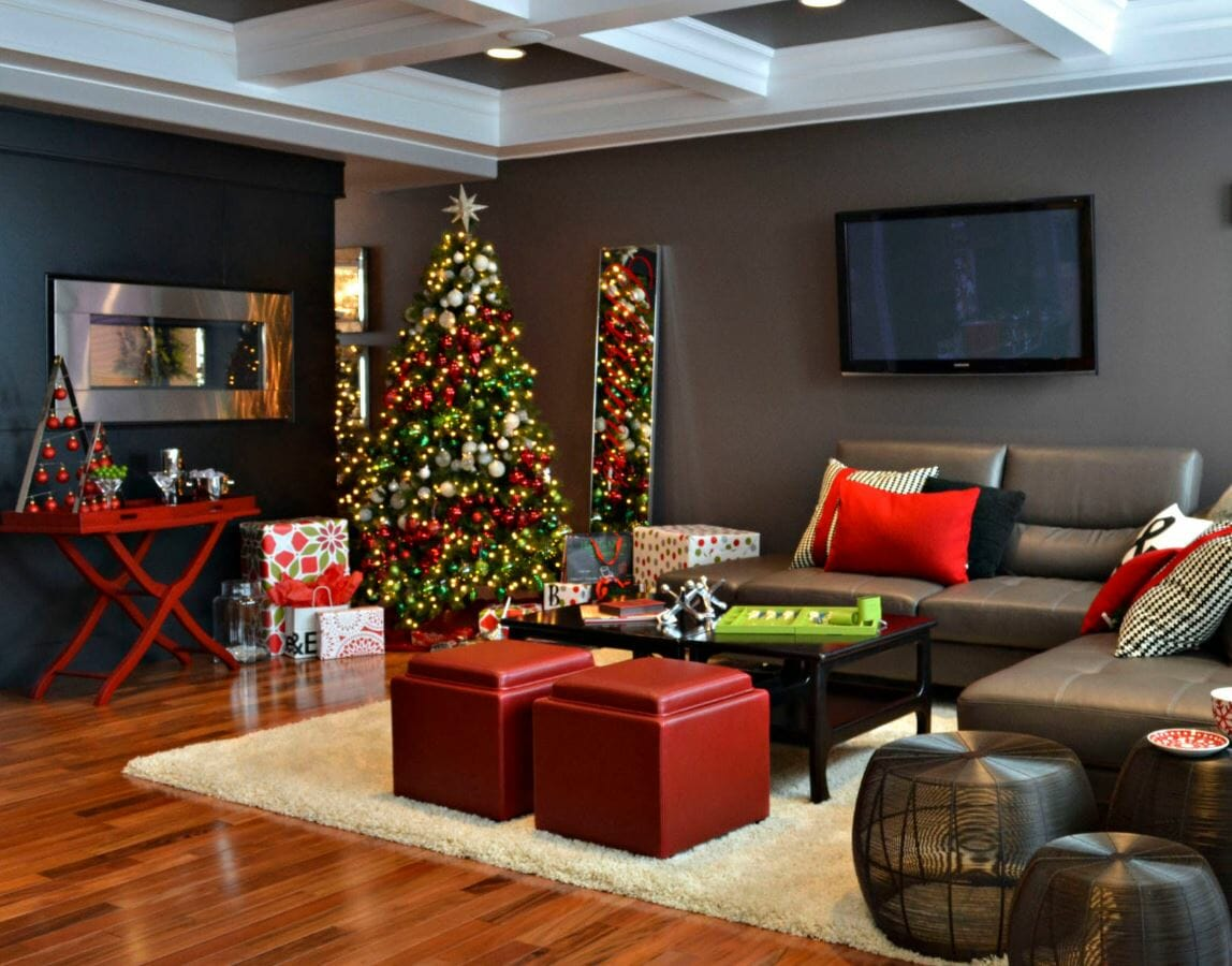 modern christmas tree ideas colorblock