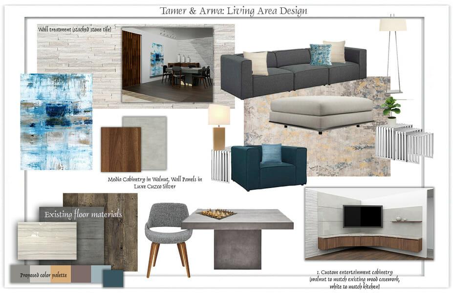 online interior designers moodboard design
