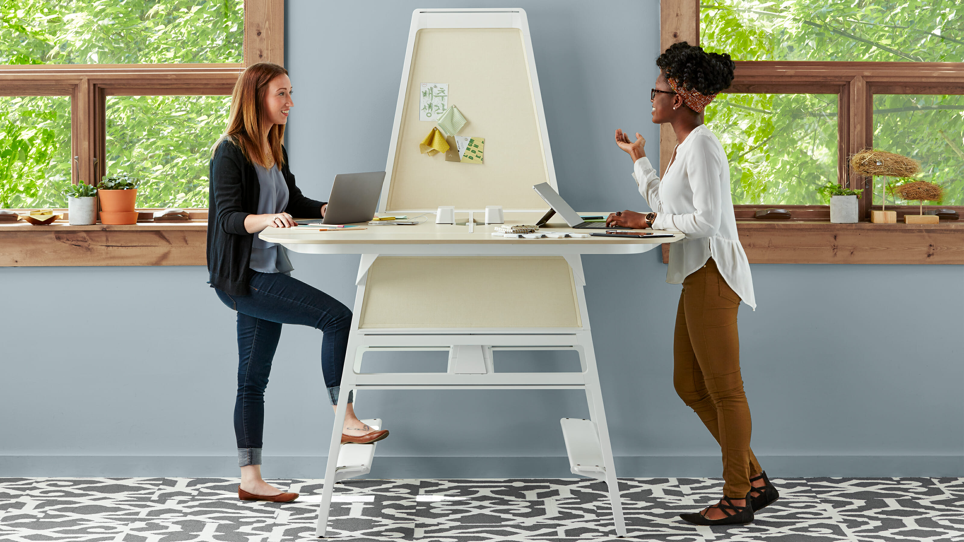steelcase standing desk modern office interior design