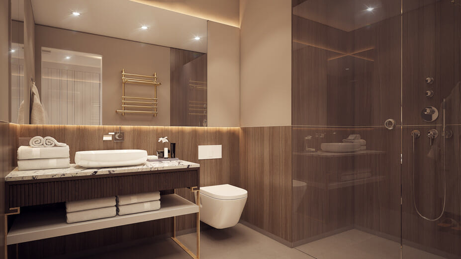 boutique hotel interior design online master bathroom - Copy