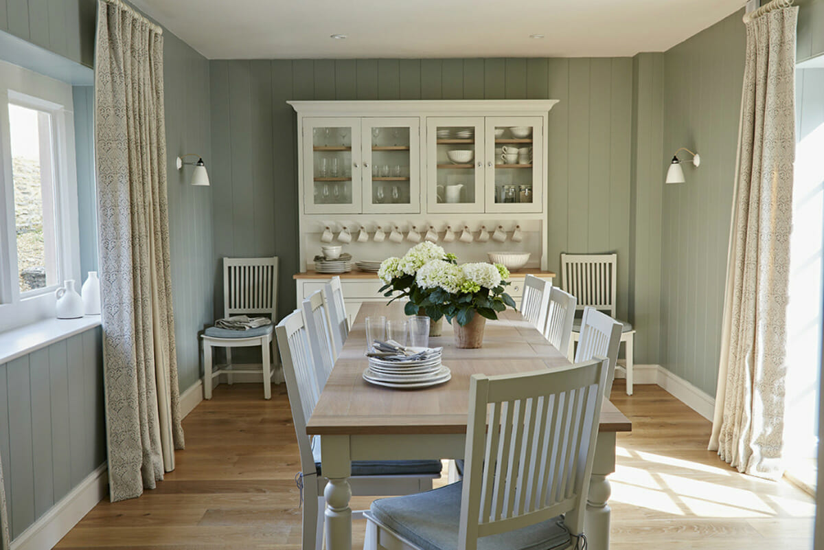 duckegg cottage interior design dining room