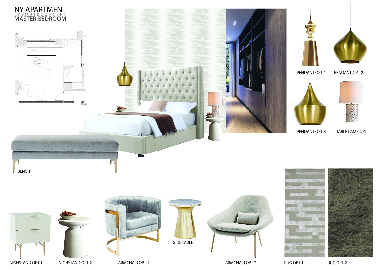 luxury apartment design online bedroom moodboard