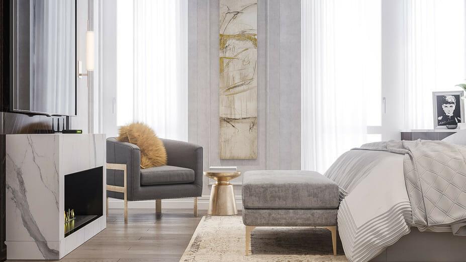 luxury apartment design online bedroom