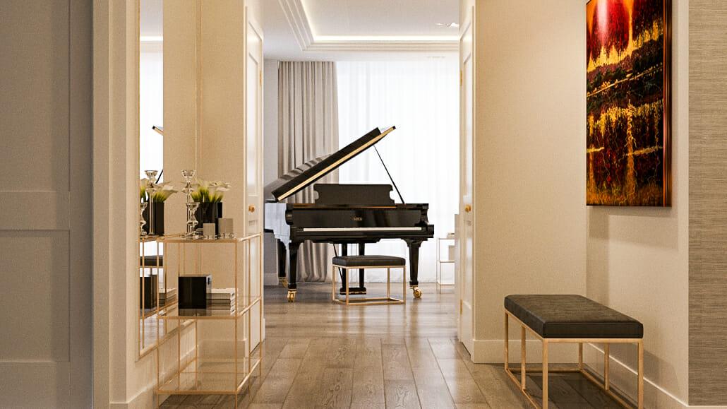 luxury apartment design online hallway