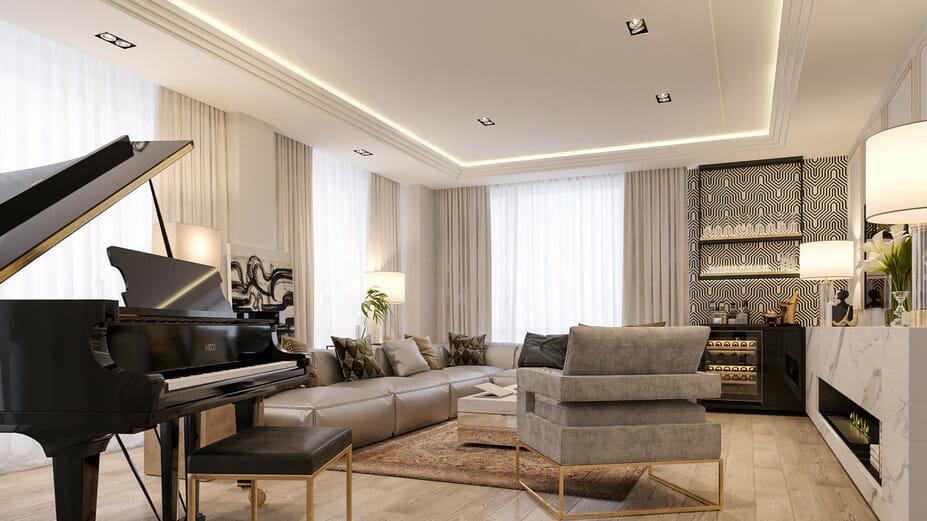 luxury apartment design online living room 3