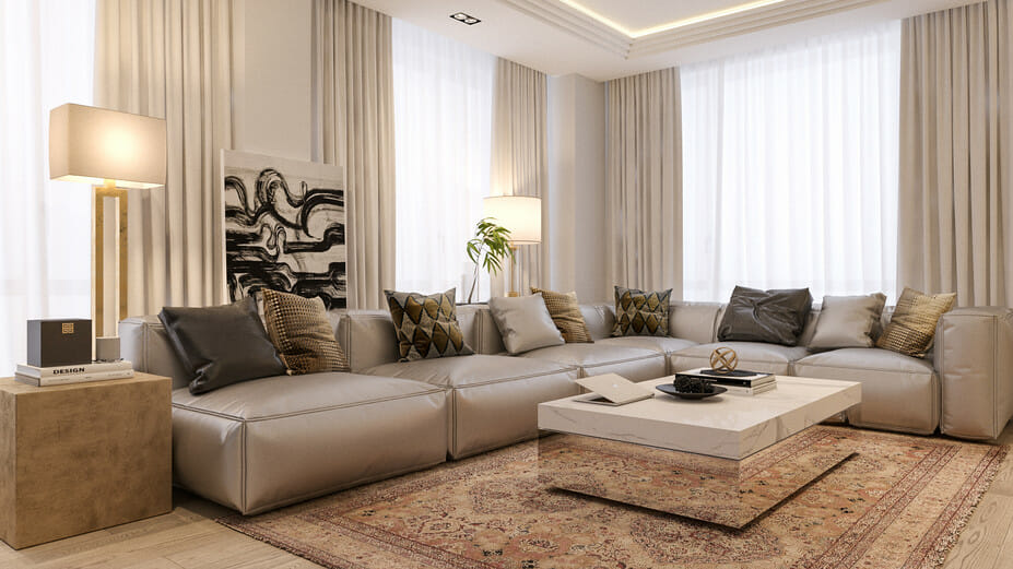luxury apartment design online living room 4