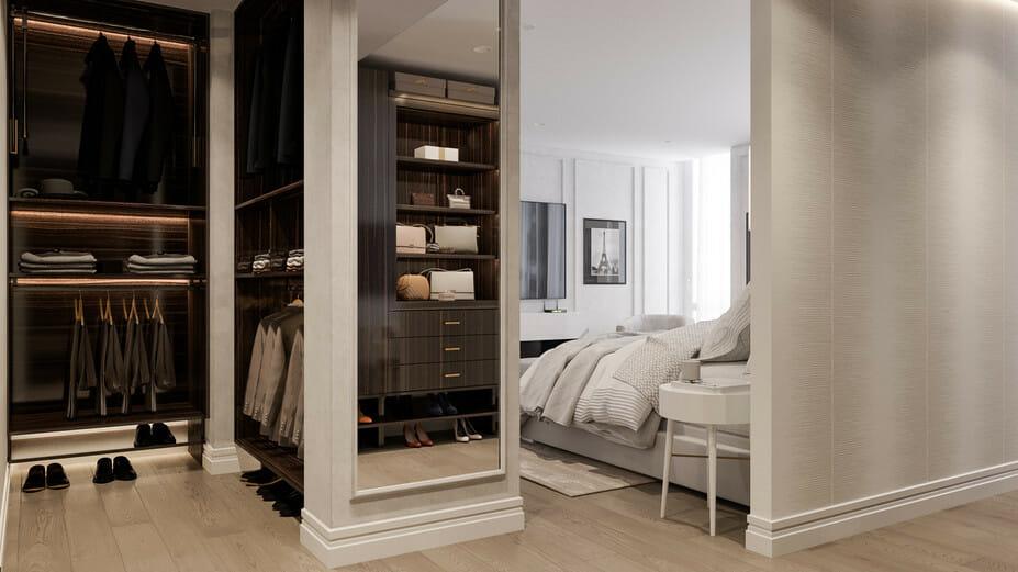 luxury apartment design online master closet