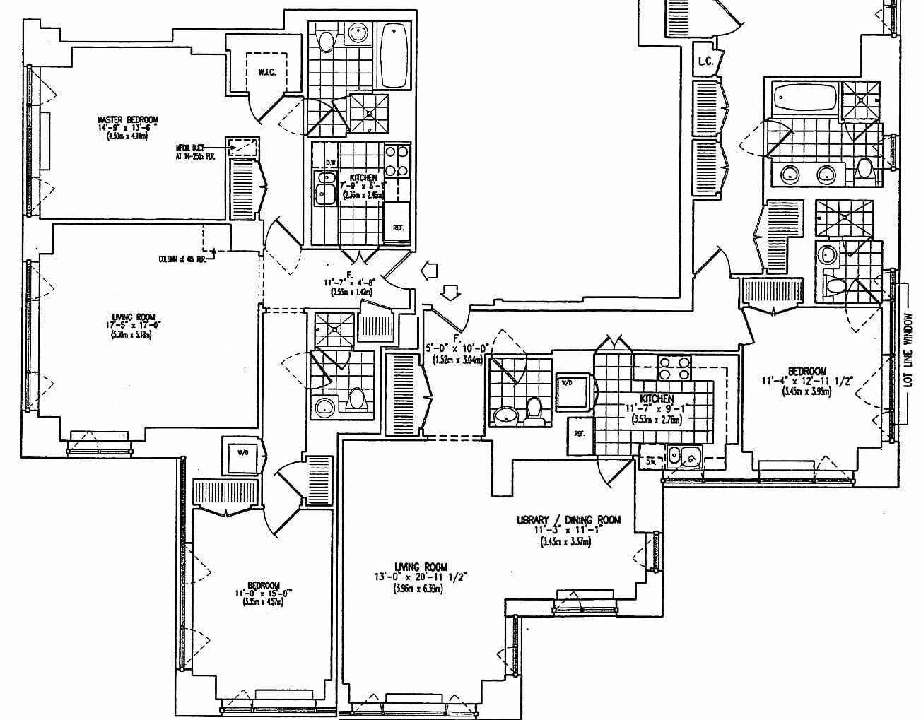 luxury apartment floor plan