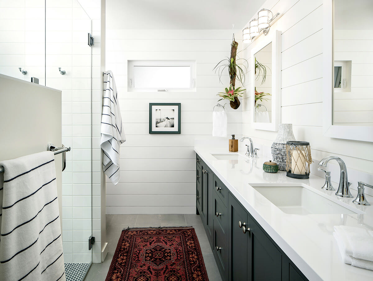 shiplap in a cottage interior design