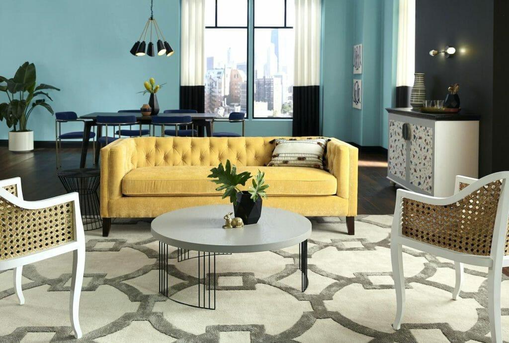 spring interior design trends yellow