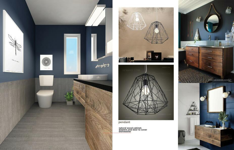 therapist office interior design bathroom moodboard