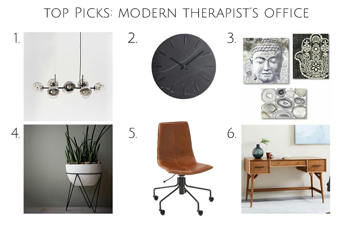 top picks modern therapist office