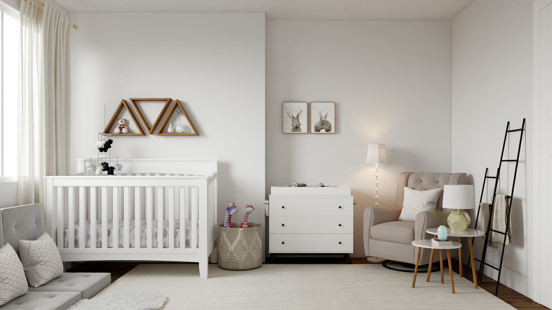 White nursery interior design