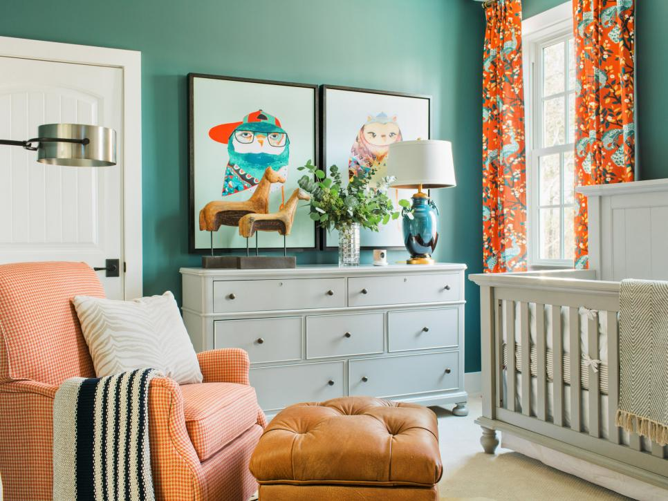 bold nursery interior design by hgtv