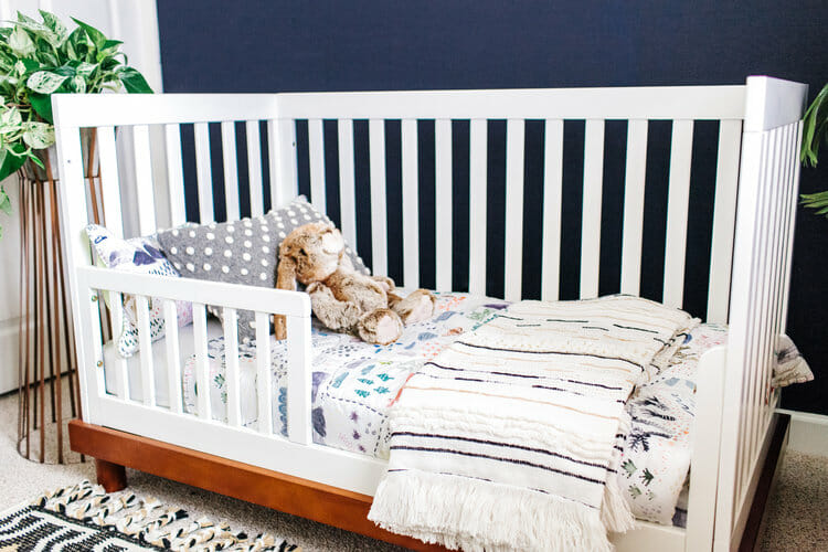 convertible crib nursery interior design