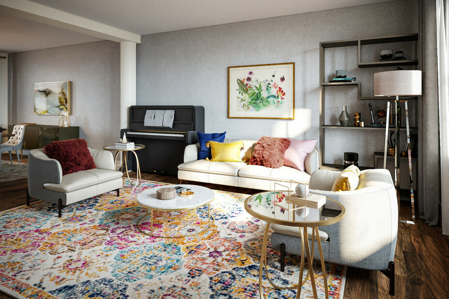 eclectic home interior design living and dining room 2