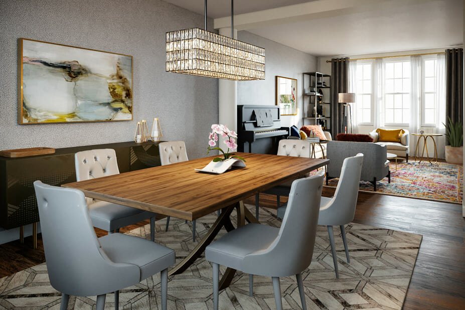eclectic home interior design living and dining room 3