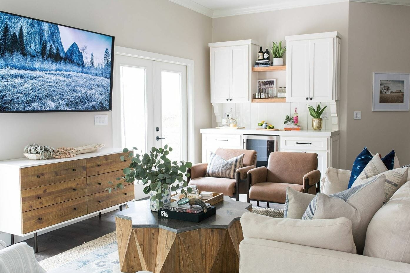 home interior design contrast