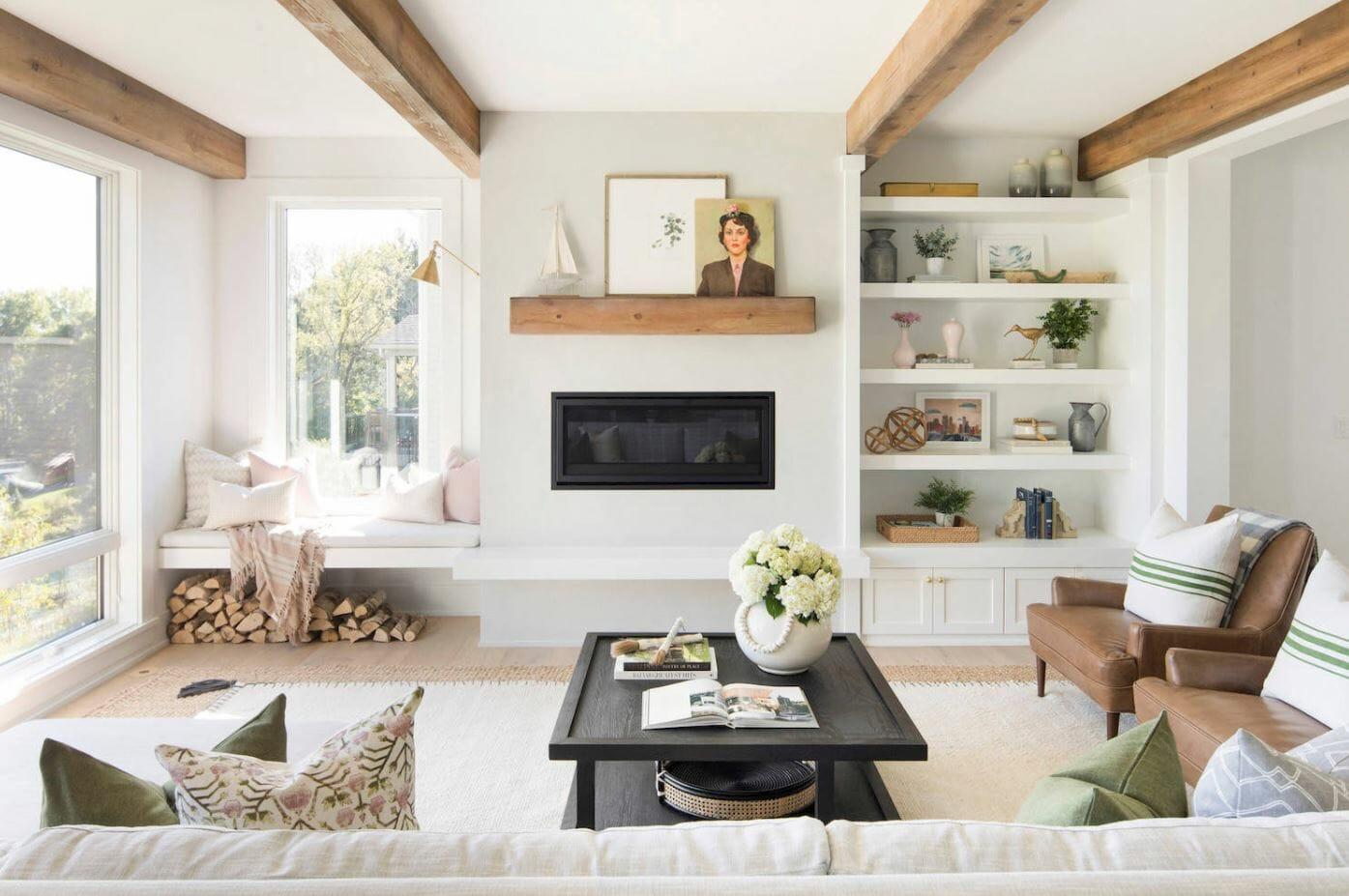 home interior design shelves
