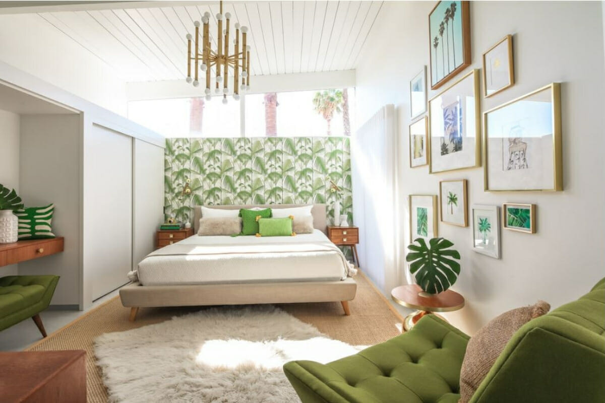 home interiors with green