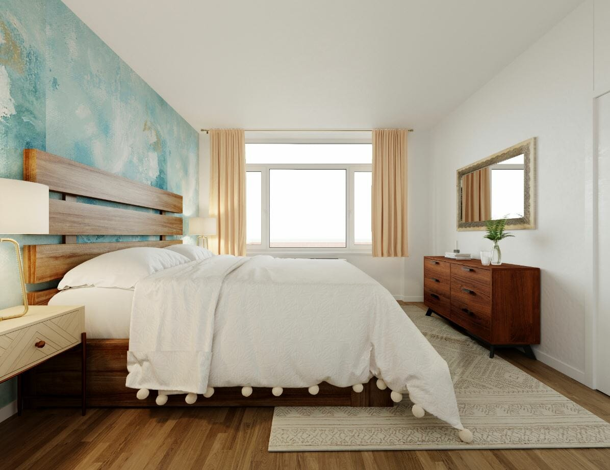 interior designer spotlight sarah m bedroom with wallpaper