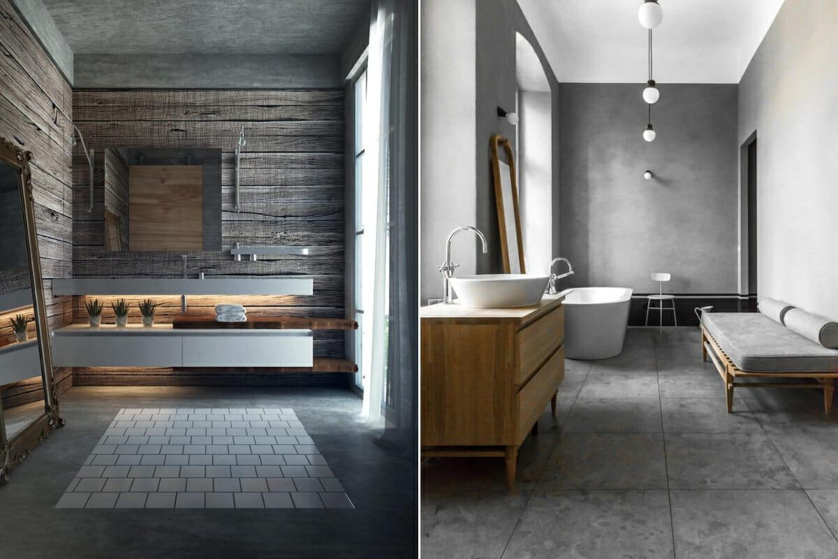 masculine and minimalist small bathroom renovation