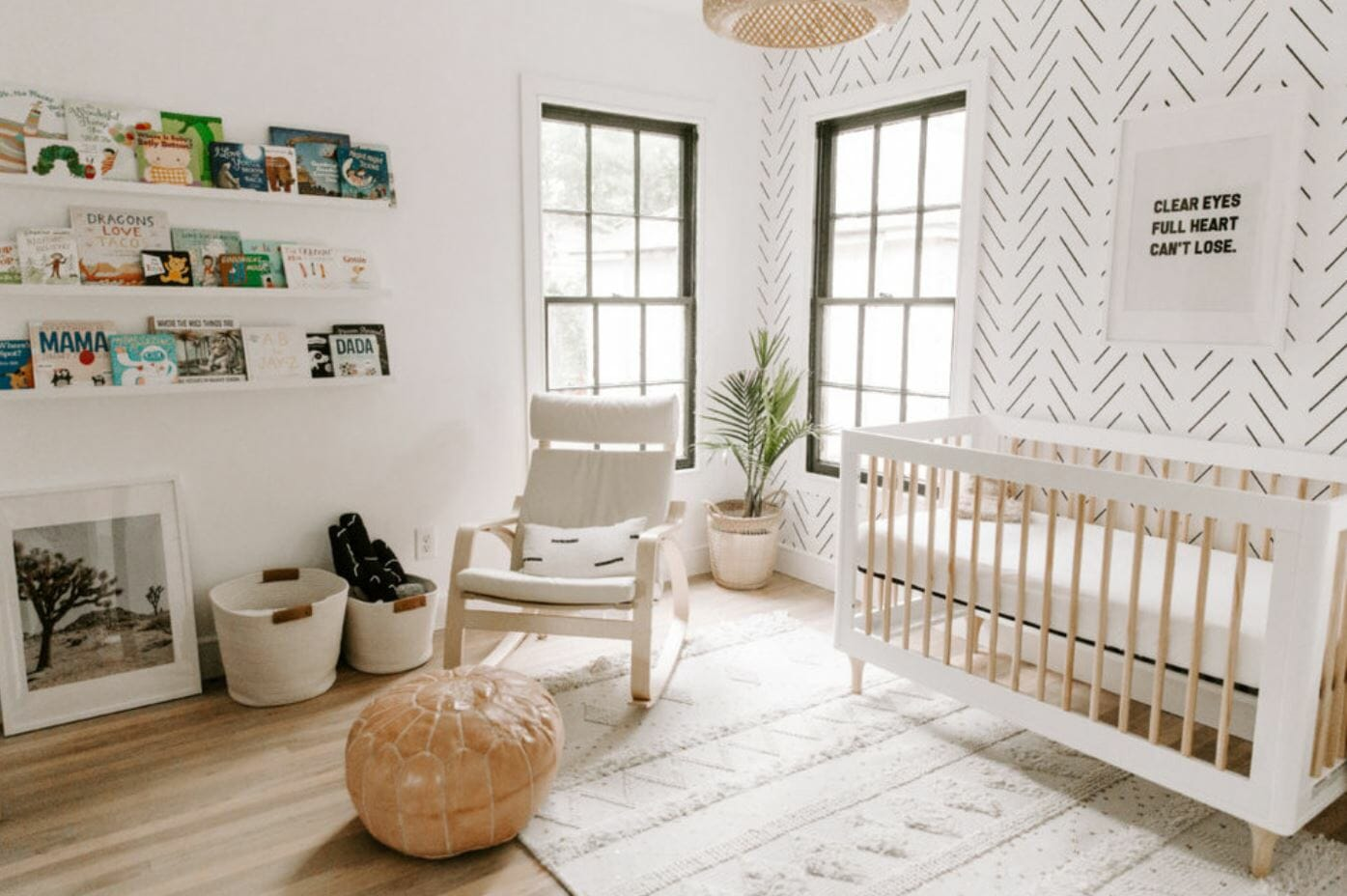 nursery interior design crib