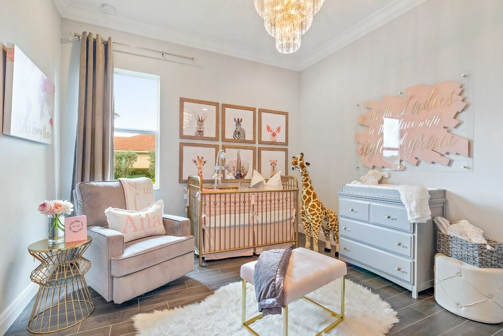 nursery interior design pink