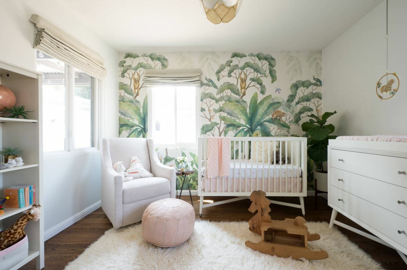 nursery interior design wallpaper