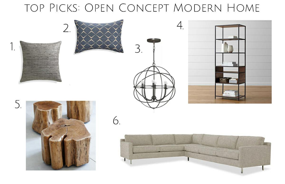 modern home interior design shop the look