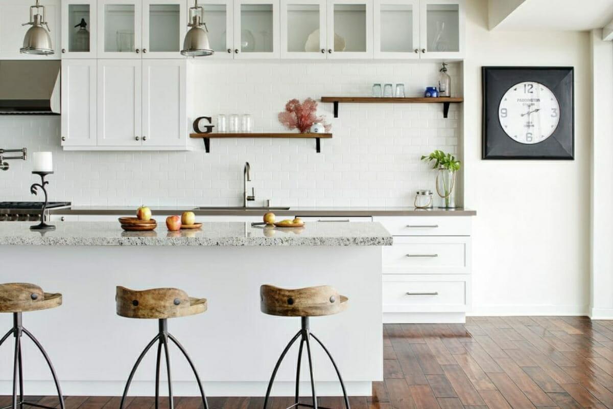 Open Shelving in Kitchen Interior Design White Cabinets