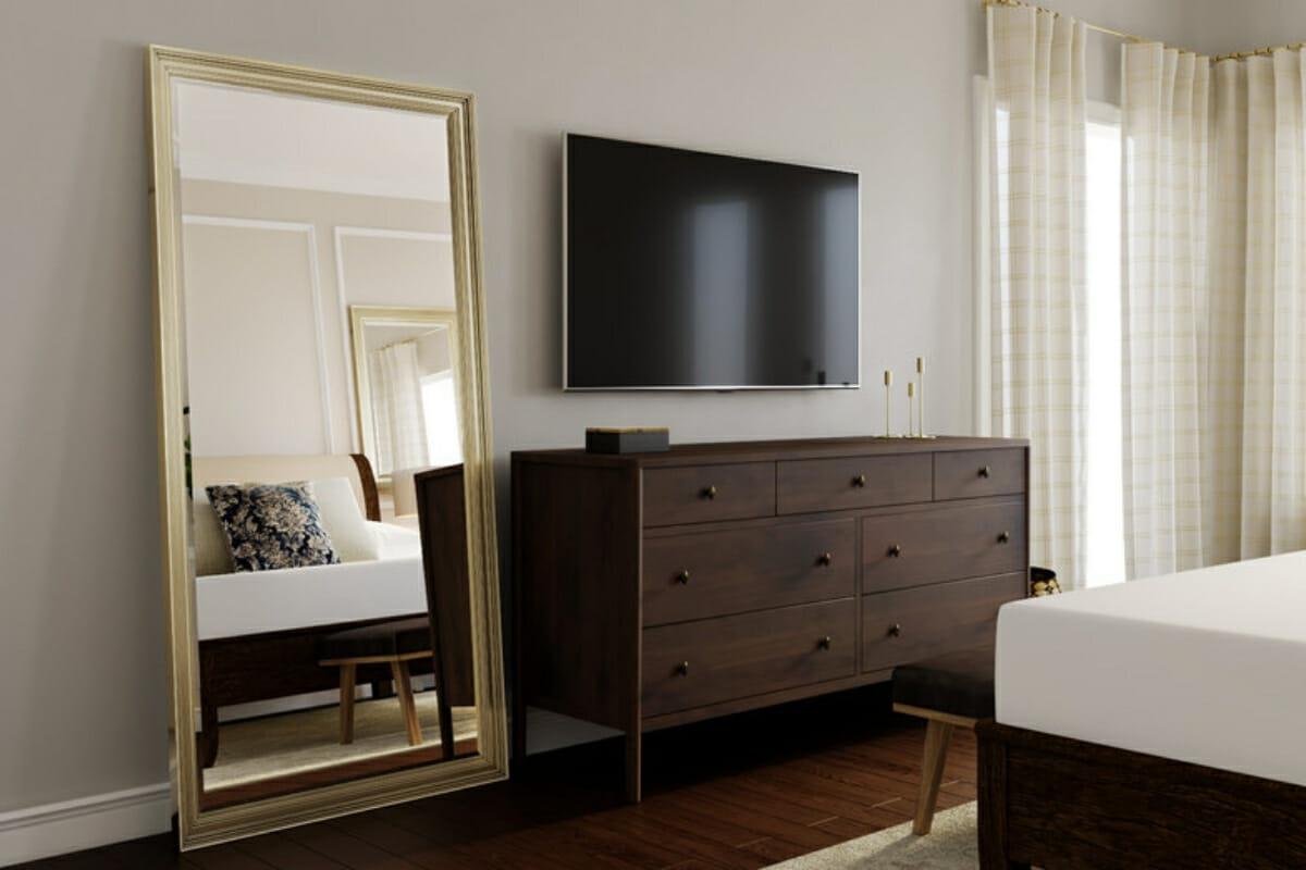 small studio apartment mirrors