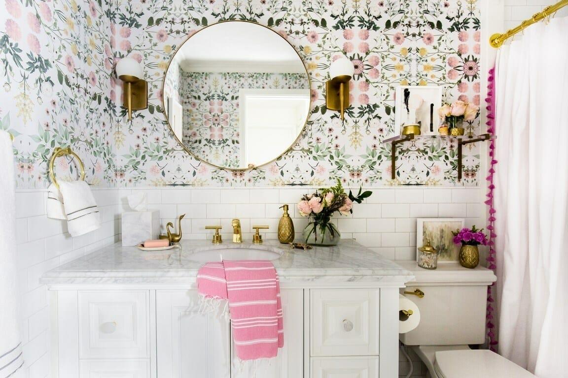 Bathroom bachelorette pad decor