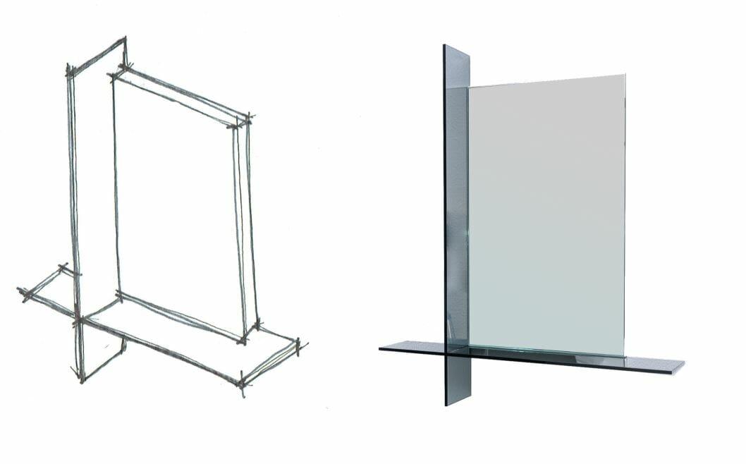 OONIKO high end glass furniture cartesio
