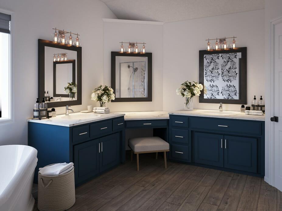 luxury master bathroom online interior design