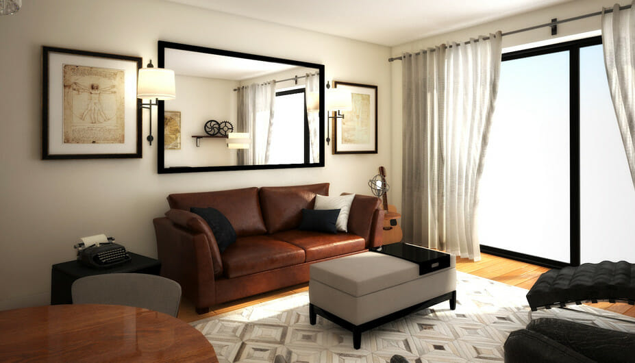 stylish bachelor pad living room design 2