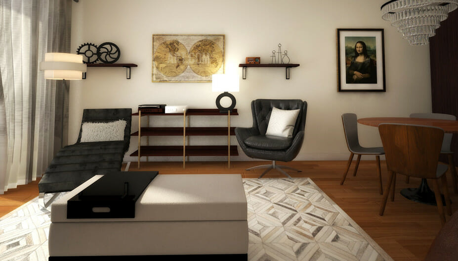 stylish bachelor pad living room design 4