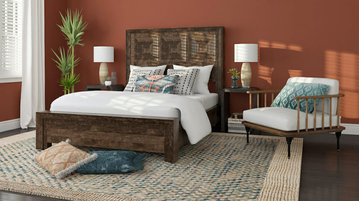 Boho bedroom by one of the best interior designers in scottsdale