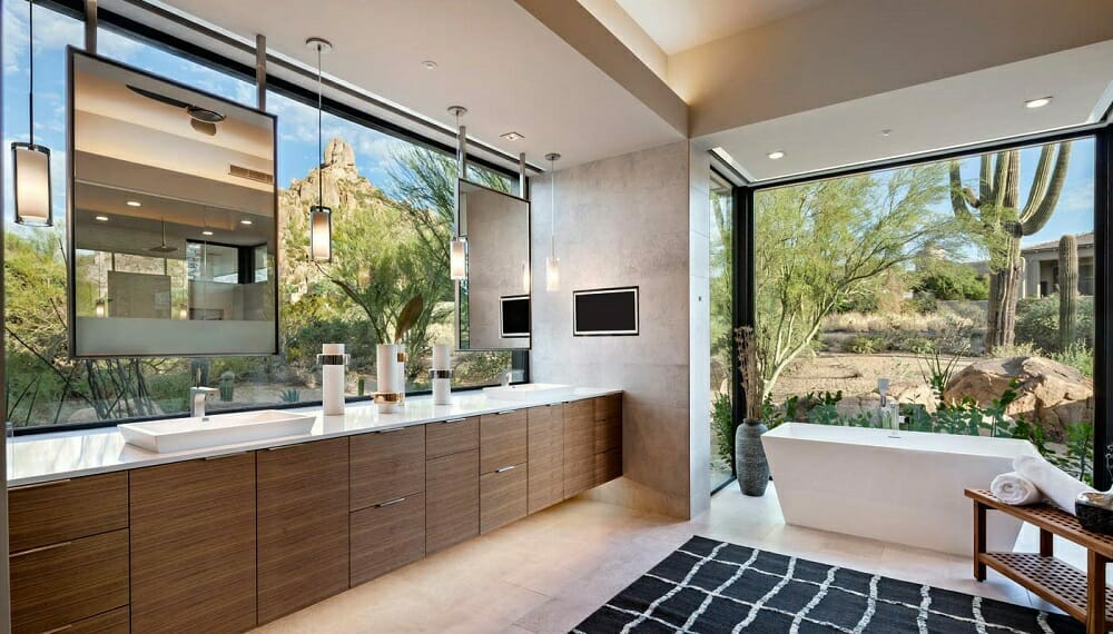 Contemporary bathroom by janet brooks interior design scottsdale