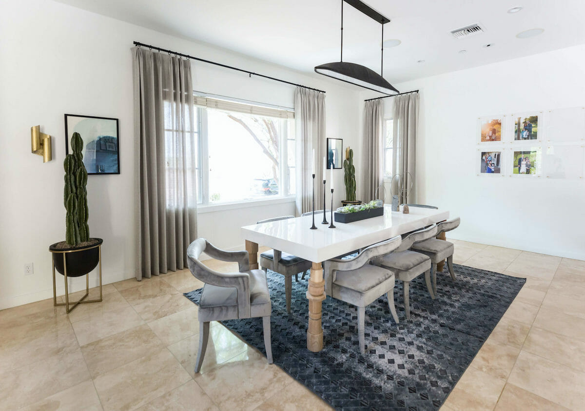 Contemporary dining room by living with lolo interior design scottsdale