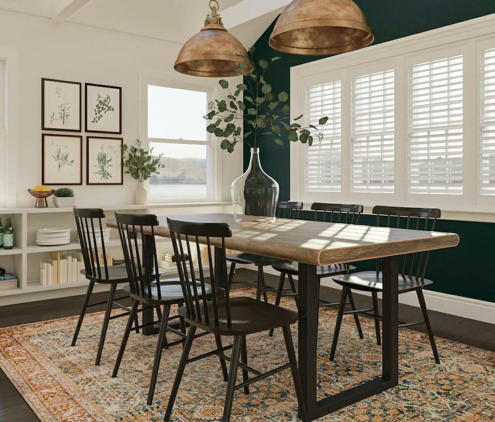 Modern farmhouse dining room by interior decorator scottsdale - aimee m
