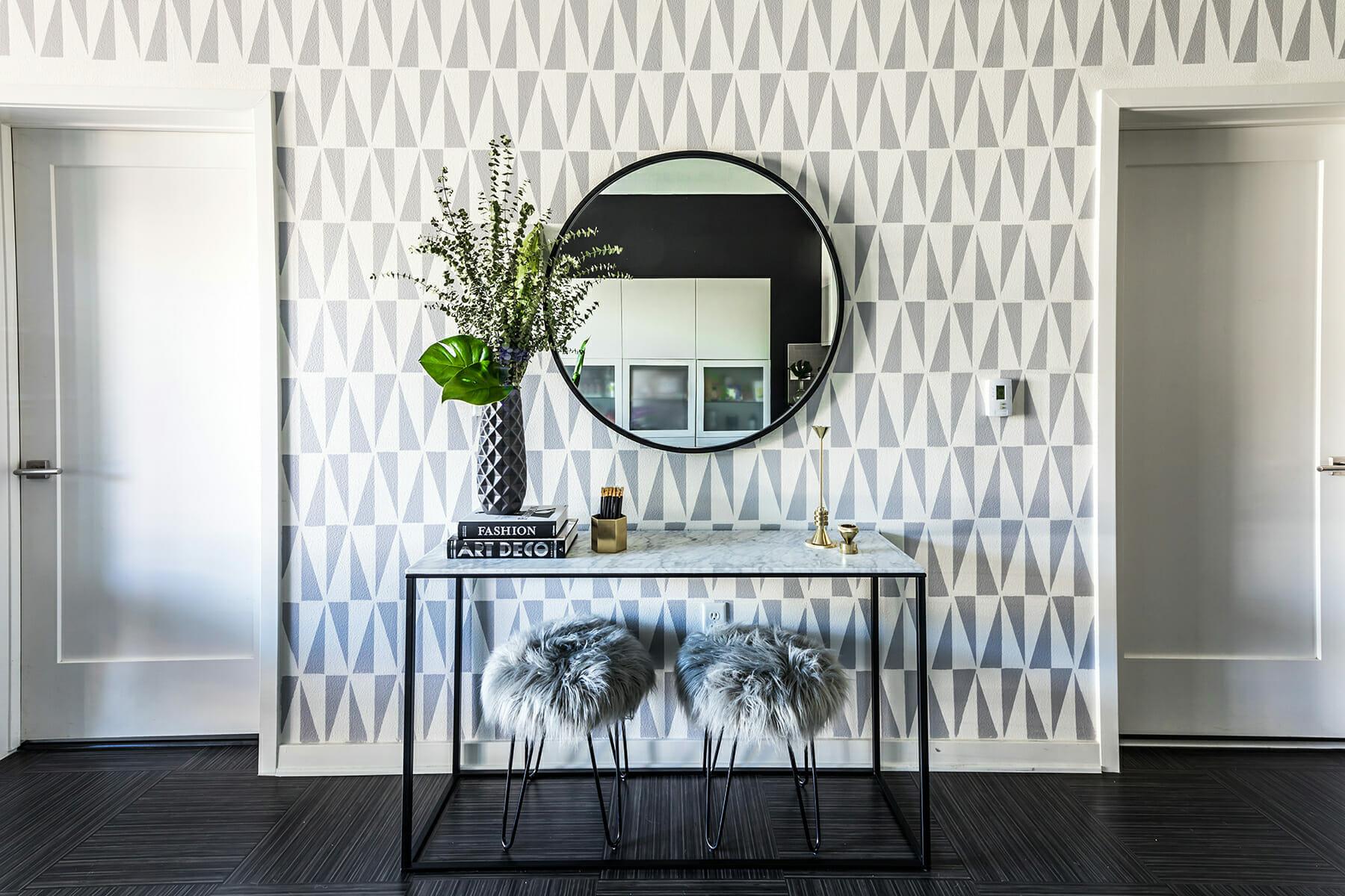 affordable interior design decorilla michelle b focal wall