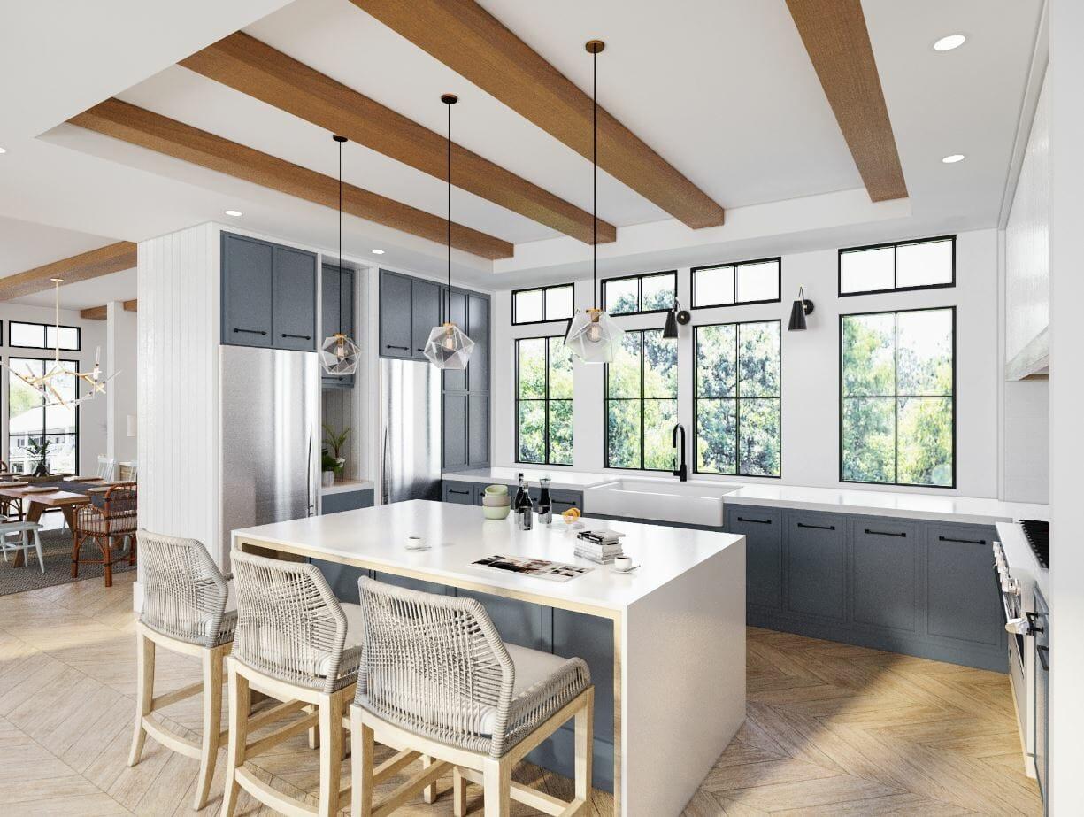 Decorilla vs havenly - 3d kitchen rendering
