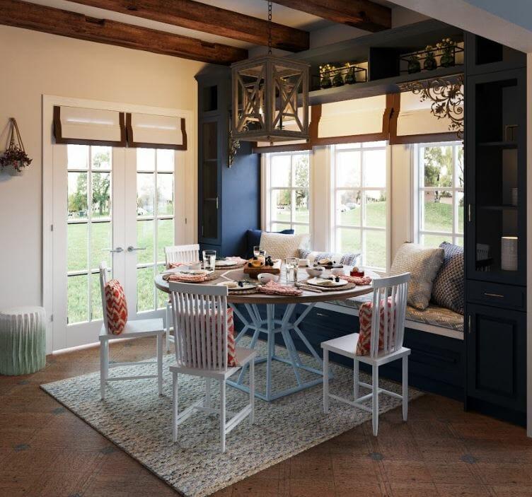 decorilla dining room design 3d rendering