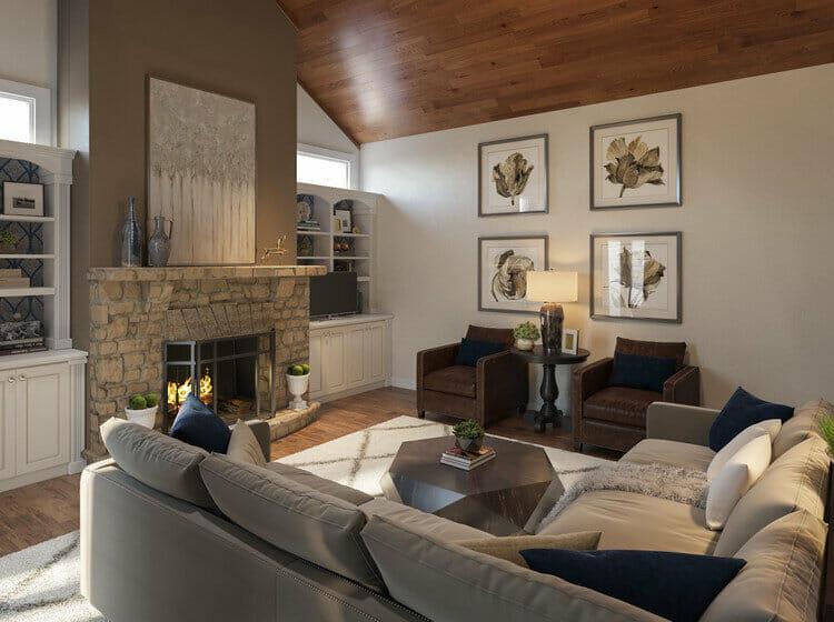 rustic fireplace decor rachel h